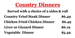 Charlie's Chicken Joplin Combo Meals