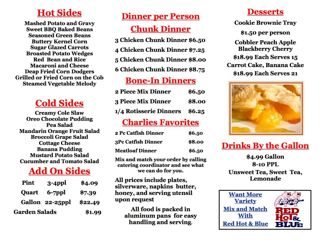 Charlie's Chicken Catering Menu 2