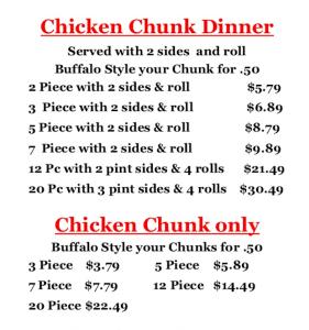 Charlie's Chicken Menu | Chicken | Joplin MO
