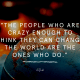 Quote about being crazy to change the world