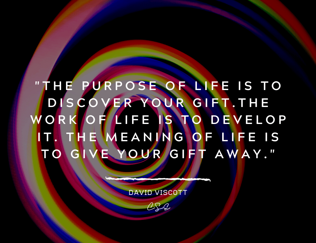 Music, Quotes & Coffee - picture of a quote by David Viscott about purpose of life