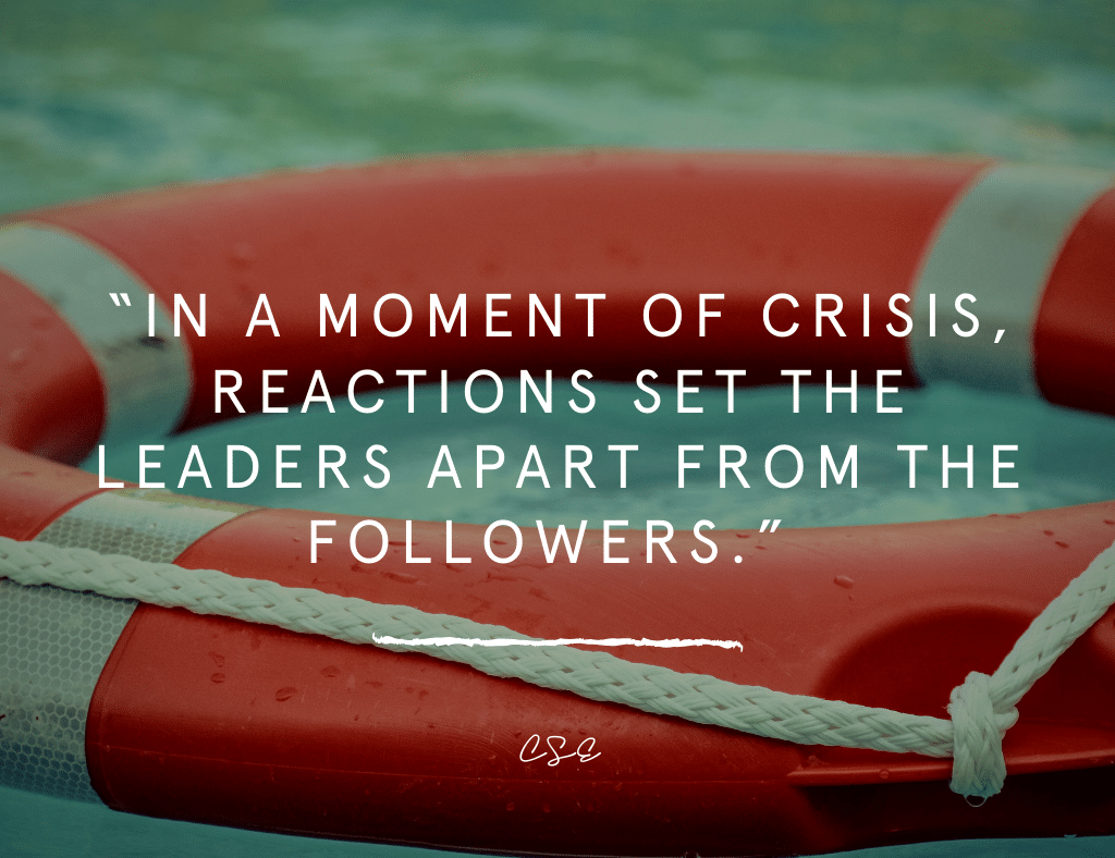 Music, Quotes & Coffee - quote about moments of crisis and leaders
