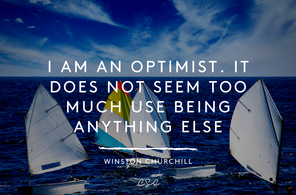Music, Quotes & Coffee - quote by Winston Churchill about being an Optimist