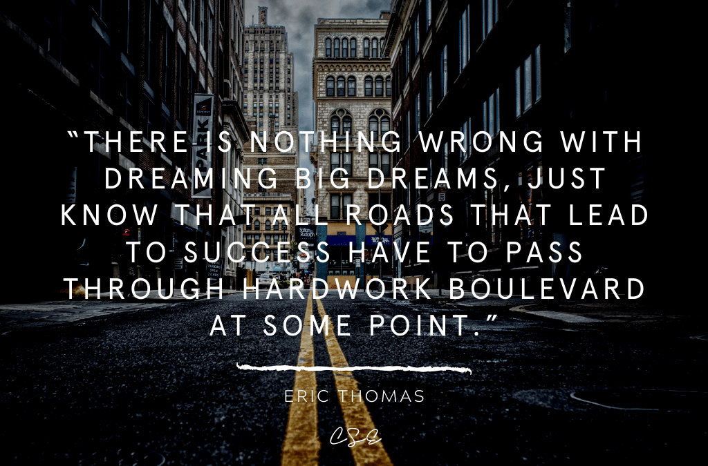 Music, Quotes & Coffee - quote by Eric Thomas about dreaming big and hard work