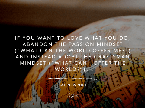 Music, Quotes & Coffee - quote by Cal Newport about what to offer the world