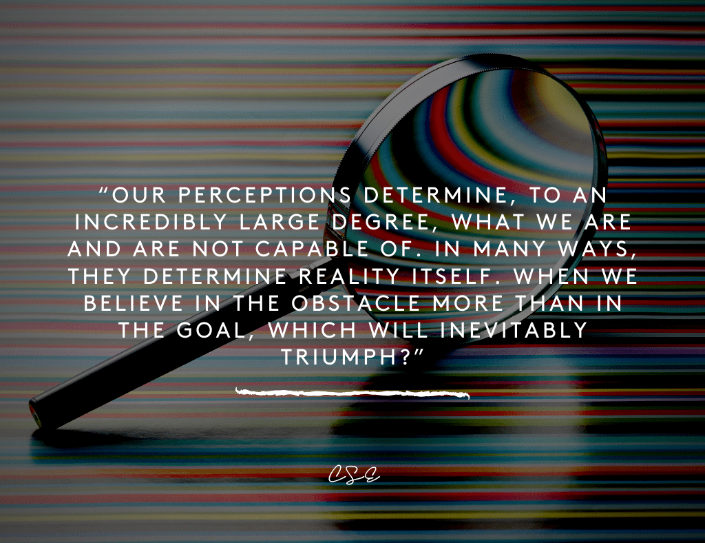 Music, Quotes & Coffee - quote about our perceptions determine what we are capable of