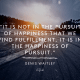 It is not in the pursuit of happiness that we find fulfillment- Denis Waitley