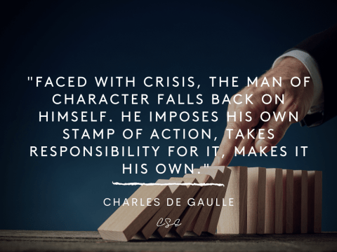 faced with crisis - charles de gaulle