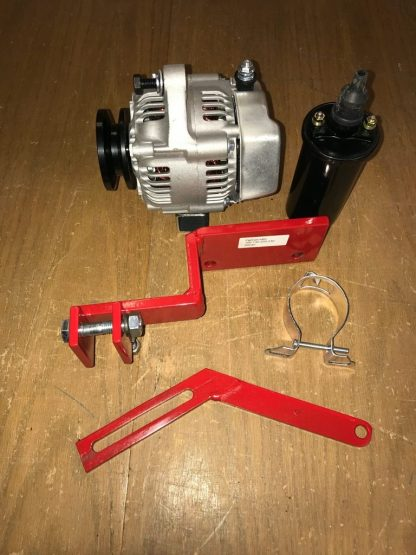 Pictured here is a kit for install the Denso 1 wire alternator on the Farmall A, B, & C series of that that were equipped with a magneto ignition system.