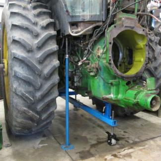 Rear housing stand holding up 4955 tractor