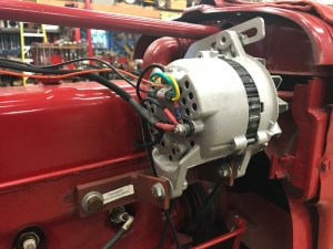 Hitachi alt produces about 35 amps on Farmall H tractor