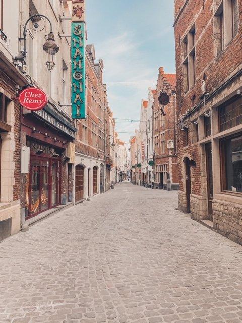 Rue de Boucher in Brussels