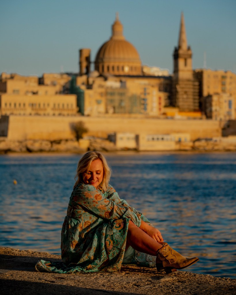 Watch the sunset from Sliema