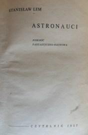 """Stanisław Lem """"Astronauci"""""""