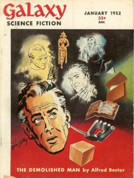 """Najpierw """"The Demolished Man"""" ukazał się w tym oto czasopiśmie, a dopiero później została wydana książka."""