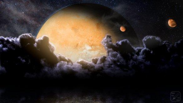 Taka graficzka przedstawiająca jedną z planet. Źródło: http://pennarellor.deviantart.com/art/Mare-Infinitus-355412492