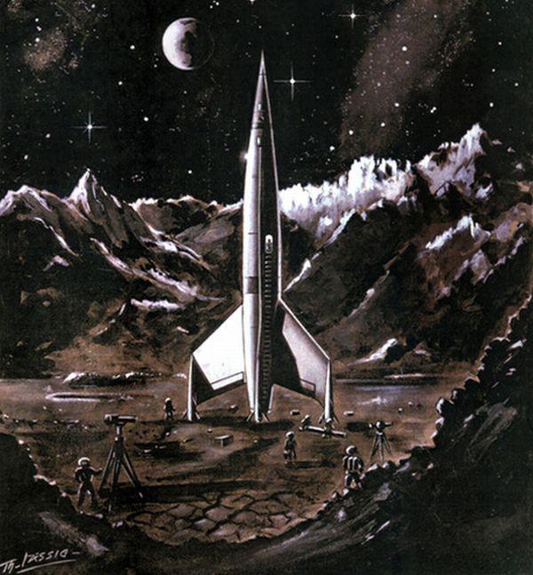 Trochę ilustracji utrzymanych w stylistyce podboju kosmosu. Izismile.com