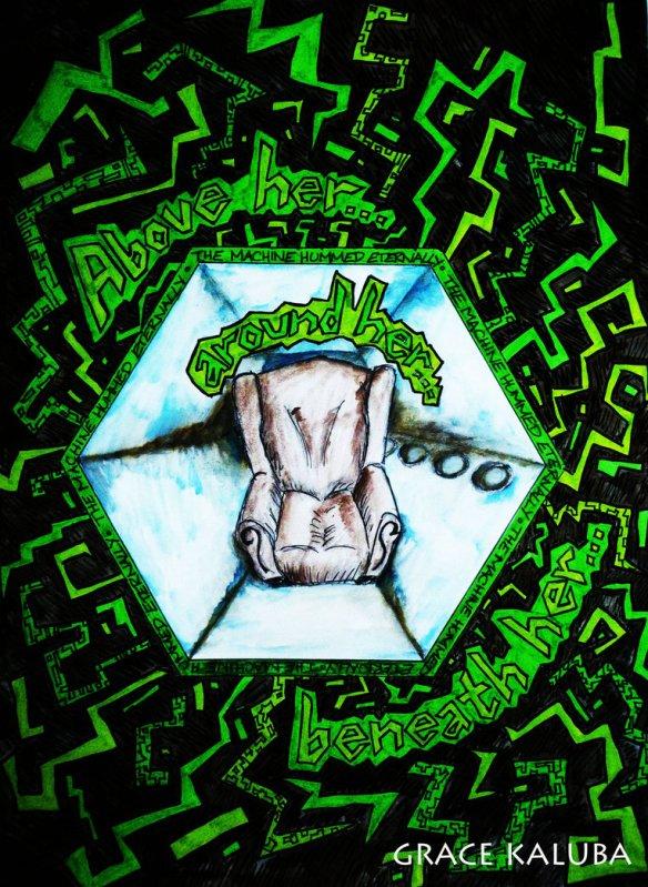 Ludzie zamieszkujący Maszynę nieustannie słyszą szum. Cisza jest dla nich zjawiskiem przerażającym. Źródło: http://loveangelmusic.deviantart.com/art/The-Machine-hummed-eternally-THE-MACHINE-STOPS-377458586?q=gallery%3Aloveangelmusic%2F24056796&qo=12