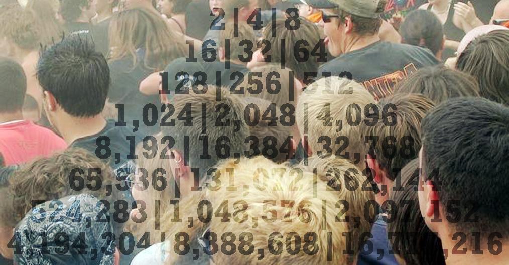 Taka tam z cyferkami i głowami tłumu co ma niby symbolizować populację. Źródło: https://flic.kr/p/8LtkYY