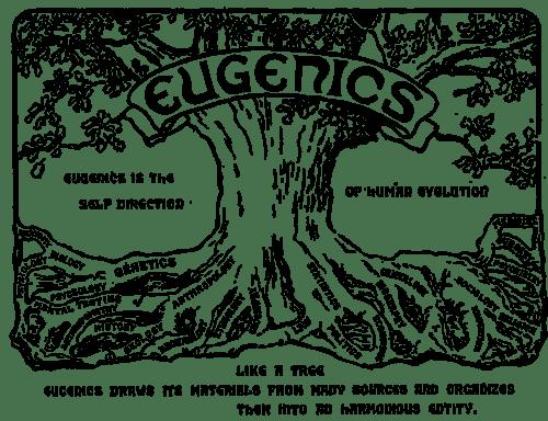 Takie tam logo kongresu eugeników. Wikicommons.