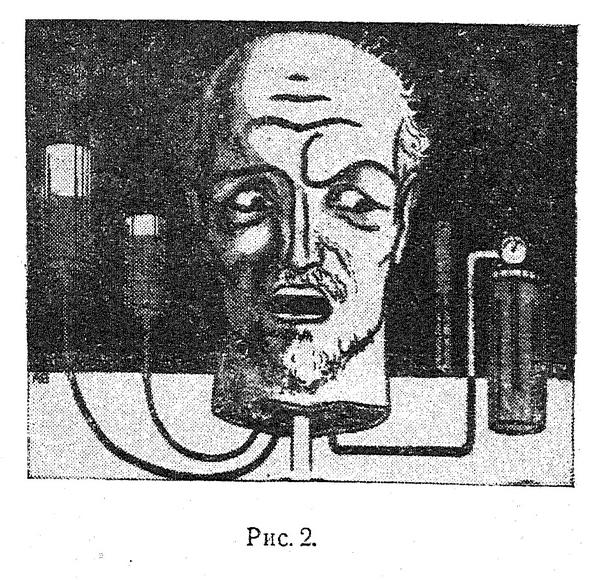Ilustracja z rosyjskiej książki. Nieśmiertelna głowa? Źródło: wikicommons