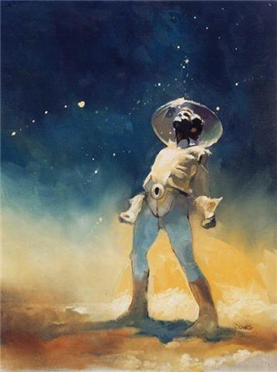 Taki oto kosmiczny człowiek w wizji Jeffa Jonesa. Żródło: http://designspiration.net/image/809832819585/