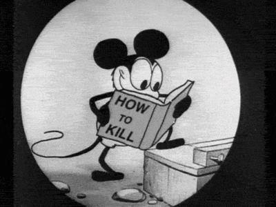 Kolejna Myszka Miki, która budzi mój niepokój... Źródło: http://weheartit.com/entry/53300274/popular_images/2013/02?tag=cartoon