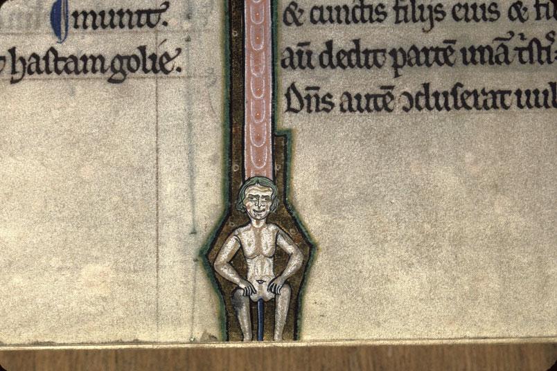 1man1pole (jeden mężczyzna jedna rura) Bible, France 1200-1210 Avranches, BM, ms. 2, fol.127v