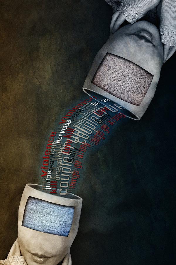 Telepatia w trochę nowym cybernetycznym wydaniu. Źródło: http://endrju100.deviantart.com/art/State-of-mind-Telepathy-59496719