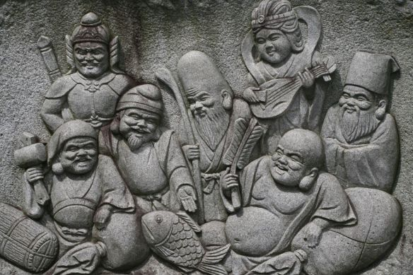 Siedem bóstw szczęście wprost z Japonii. Źródło: https://flic.kr/p/2XhCeQ