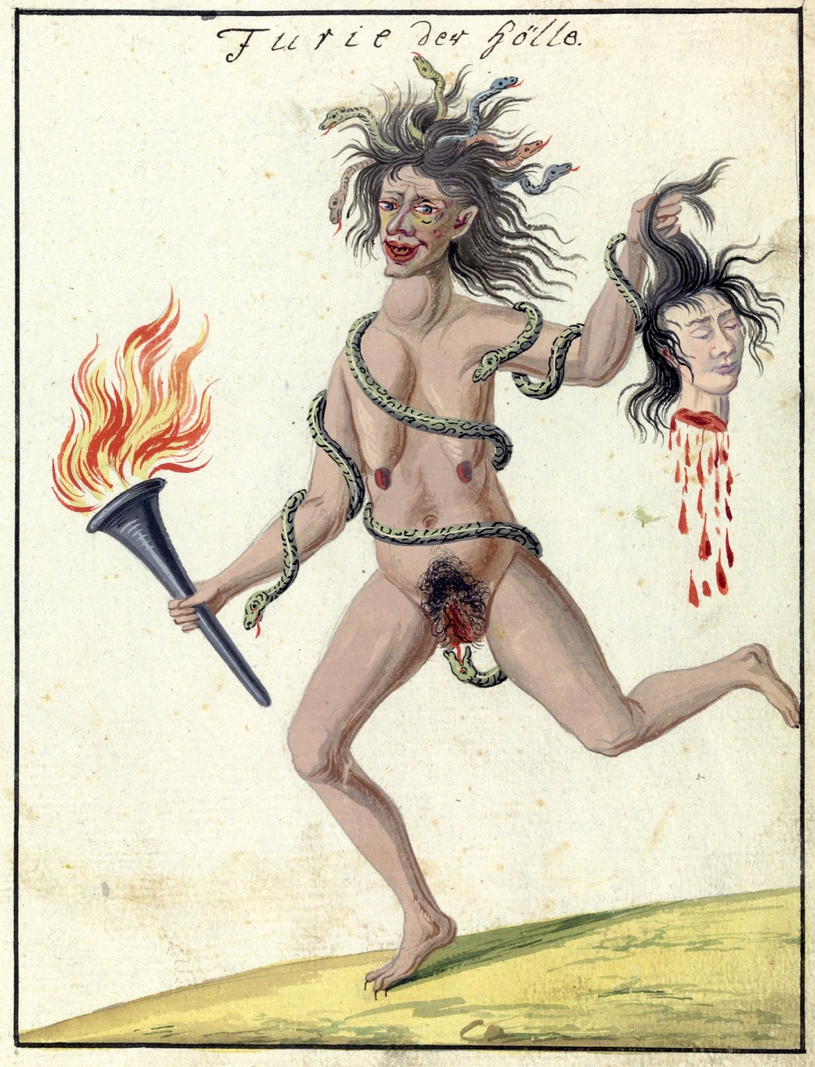L0076375 A compendium about demons and magic. MS 1766. Credit: Wellcome Library, London. Wellcome Images images@wellcome.ac.uk http://wellcomeimages.org Compendium rarissimum totius Artis Magicae sistematisatae per celeberrimos Artis hujus Magistros. Anno 1057. Noli me tangere. Watercolour c. 1775 Published:  -  Copyrighted work available under Creative Commons Attribution only licence CC BY 4.0 http://creativecommons.org/licenses/by/4.0/