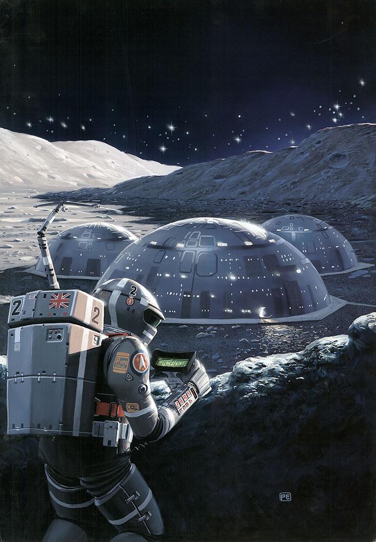 Księżycowa baza. Źródło: pinterest.com