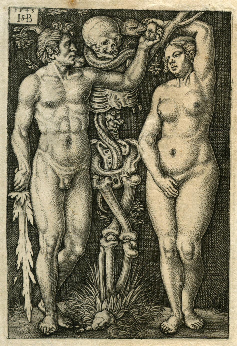 Adam i Ewa. Domena publiczna. Źródło: http://www.hans-sebald-beham.com/