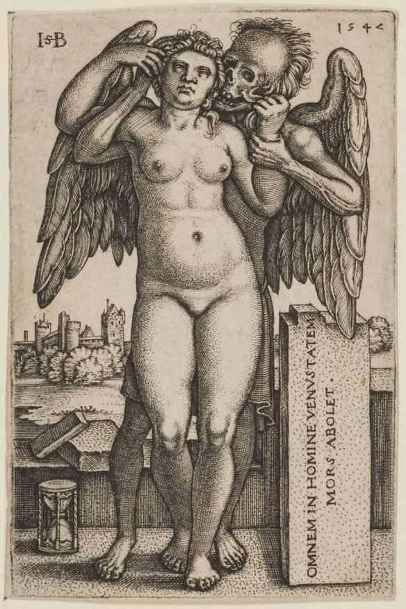 Śmierć i naga kobieta 1547. Domena publiczna.
