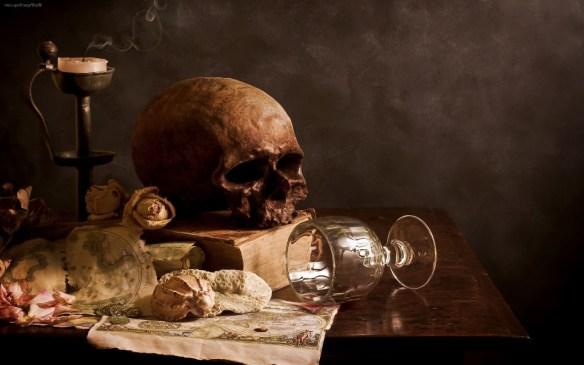 Wszyscy umrzemy... Źródło: https://larvalsubjects.files.wordpress.com/2012/10/death-art-wallpaper.jpg