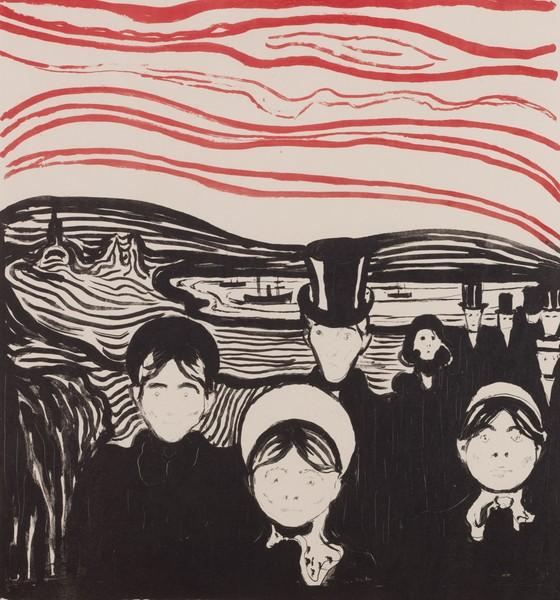 """Edward Munch """"Angst"""" czyli """"Niepokój"""" - grafika - chyba"""