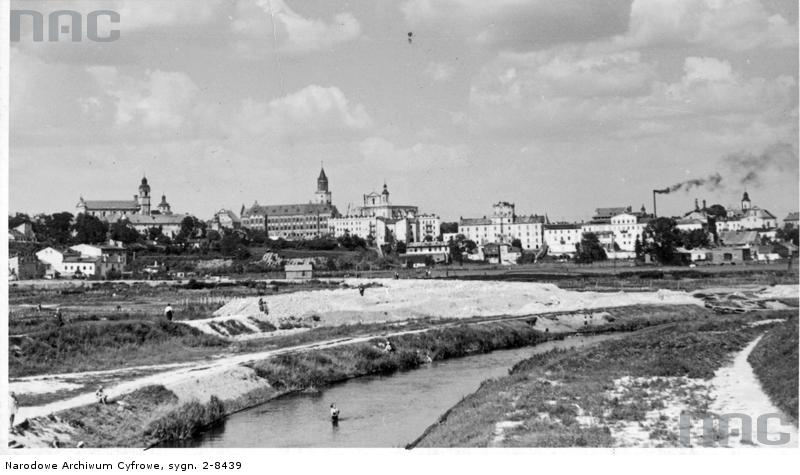 Lublin. Panorama miasta. 1939-1945. Źródło: https://audiovis.nac.gov.pl/obraz/20149/2354ed7d08876ba174fad10ab2574332/
