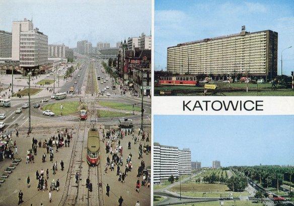 A tu taka pocztówka z Katowic. Źródło: http://katowice.fotopolska.eu/385,foto.html