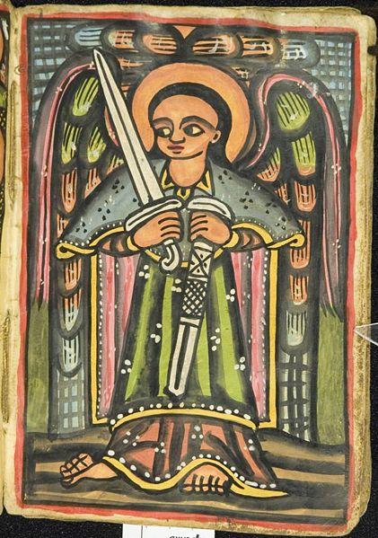 Tu mamy koptyjskie manuskrypty. Źródło: http://bibliodyssey.blogspot.com/2007/11/ethiopian-manuscripts.html