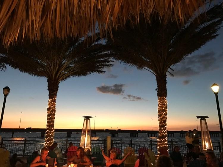 TT's Tiki Hut Sunset view