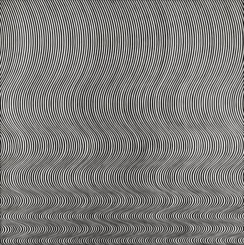 Fall 1963 by Bridget Riley born 1931