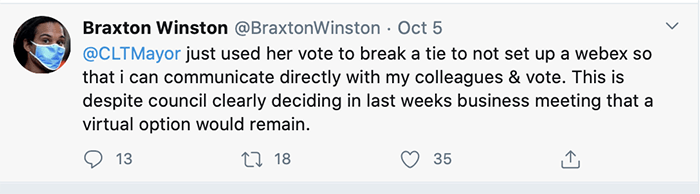 Braxton tweet about meetings