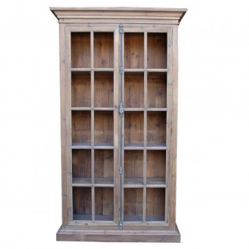 French Country Reclaimed Library Cabinet Vitrine