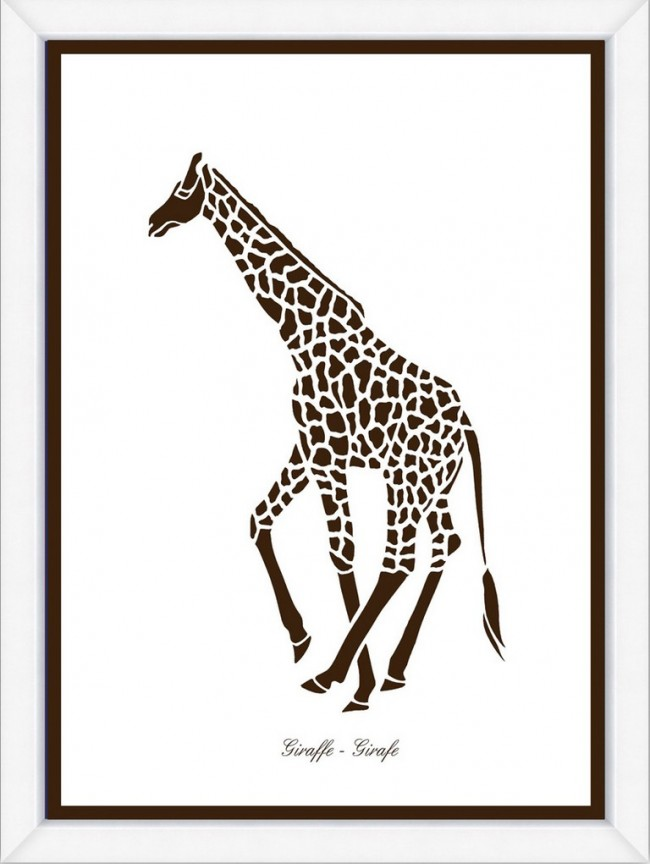 Brown Giraffe Silhouette