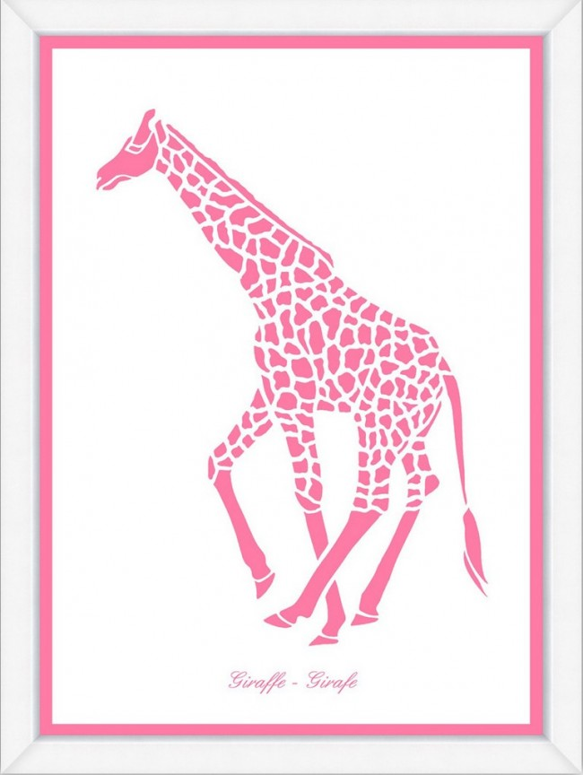 kids office chairs burlap chair covers for folding pink giraffe silhouette