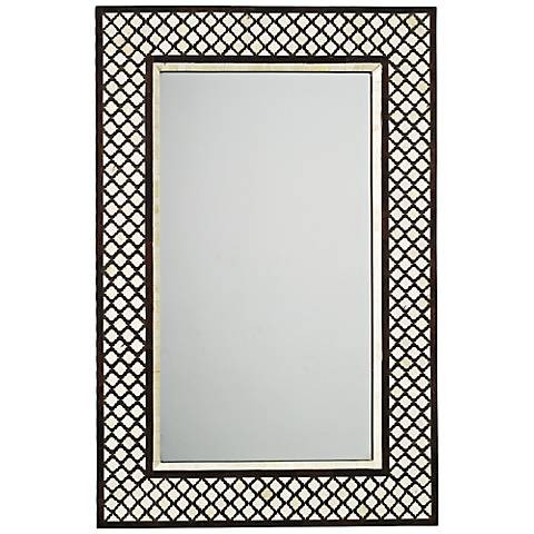 Black and White Bone Inlay Mirror