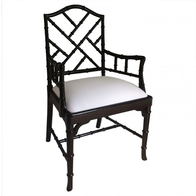 Charlotte Chinese Chippendale Dining Chairs French Stain