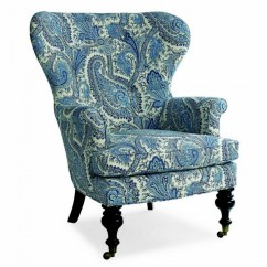Colonial Wingback Sofas Nicoletti Leather Sofa Uk Mary Blue & White Paisley Wing Chair