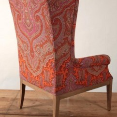 Outdoor High Table And Chair Set Thick Patio Cushions Paisley Jaipur Back Wing