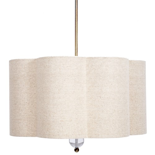 Scalloped Hanging Shade Chandelier